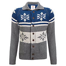 Buy Franklin & Marshall Fairisle Chunky Cardigan, Denim Online at johnlewis.com