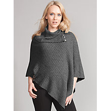 Buy Seraphine Annabell Rollneck Maternity Poncho, Grey Online at johnlewis.com