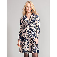 Buy Seraphine Blossom Print Maternity Dress, Taupe Online at johnlewis.com