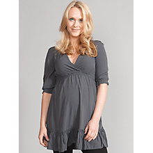 Buy Seraphine Ciara Ruffle Maternity Tunic, Grey Online at johnlewis.com