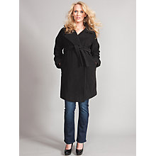 Buy Seraphine Catherine Maternity Wrap Coat, Black Online at johnlewis.com