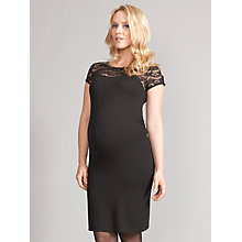 Buy Séraphine Dita Lace Top Maternity Dress, Black Online at johnlewis.com