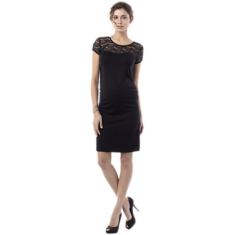 Buy Seraphine Dita Lace Top Maternity Dress, Black Online at johnlewis.com
