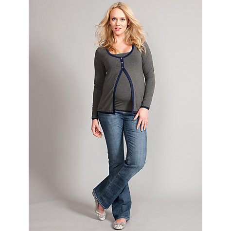Buy Séraphine Eleanor Maternity Top, Grey/Navy Online at johnlewis.com