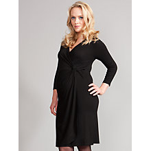 Buy Seraphine Farrah Faux Wrap Maternity Dress, Black Online at johnlewis.com