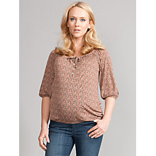 Buy Seraphine Gina Printed Blouson Maternity Top, Multi Online at johnlewis.com