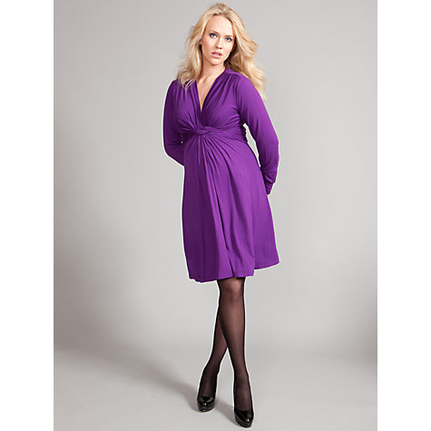 Buy Seraphine Jolene Maternity Knot Dress, Purple Online at johnlewis.com