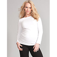 Buy Seraphine Julie Boat Neck Maternity Top, White Online at johnlewis.com