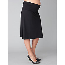 Buy Séraphine Laura Roll-Over Maternity Skirt, Black Online at johnlewis.com