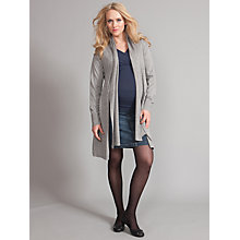 Buy Séraphine Lena Tie Front Maternity Cardigan, Grey Online at johnlewis.com