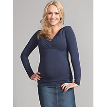 Buy Seraphine Adele V-Neck Maternity/Nursing Top, Navy Online at johnlewis.com