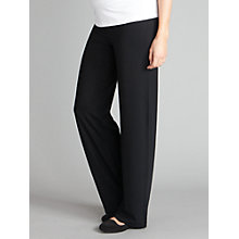 Buy Seraphine Monica Roll Over Maternity Trousers, Black Online at johnlewis.com