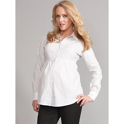 Buy Séraphine Nihal Striped Maternity Shirt, White/Grey Online at johnlewis.com