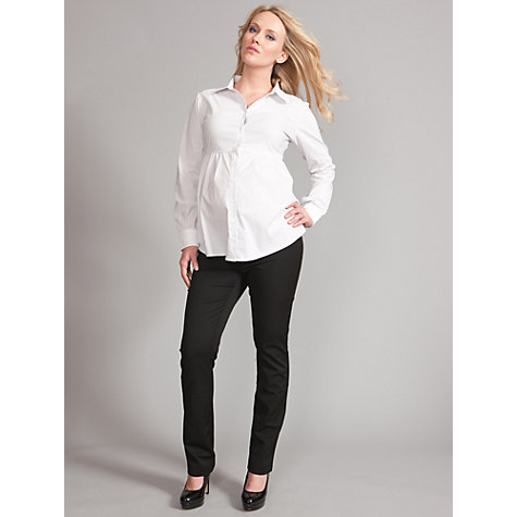 Buy Seraphine Nihal Striped Maternity Shirt, White/Grey Online at johnlewis.com