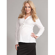 Buy Seraphine Stacey Maternity Shirt, White Online at johnlewis.com