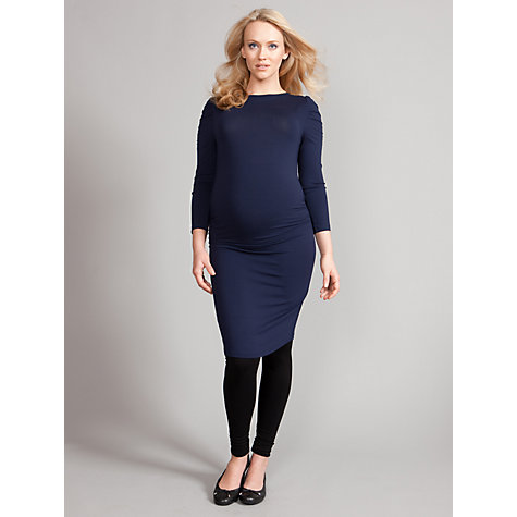 Buy Seraphine Tessina Maternity Shift Dress, Navy Online at johnlewis.com