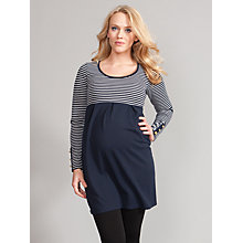 Buy Seraphine Thea Nautical Maternity Dress, Navy/Grey Online at johnlewis.com