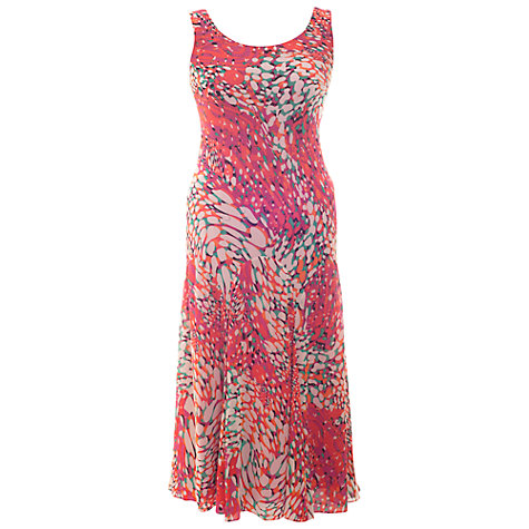 Buy Chesca Bubble Print Silk Dress, Cerise Online at johnlewis.com