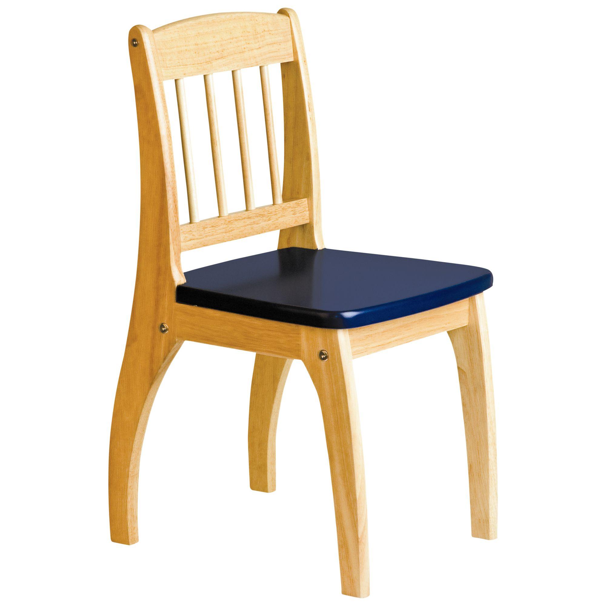 John Crane John Crane Junior Chair, Natural Wood Finish/Navy Blue