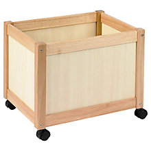 Buy John Crane Multi Storage Bin on Wheels, Natural Wooden Online at johnlewis.com