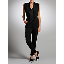 Buy Somerset by Alice Temperley Satin Back Crepe Jumpsuit, Black Online at johnlewis.com