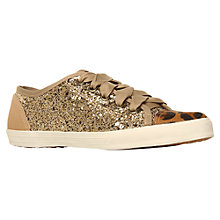 Buy KG by Kurt Geiger Lucca Plimsolls, Taupe/Gold Online at johnlewis.com