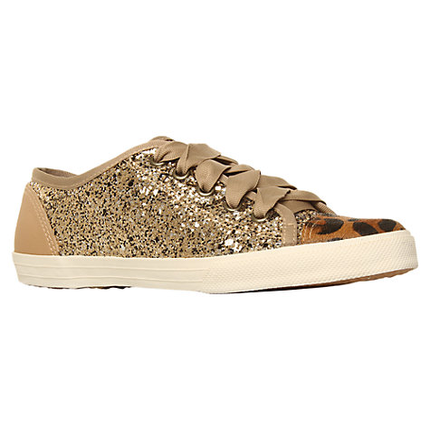 Buy KG by Kurt Geiger Lucca Plimsolls, Green Online at johnlewis.com