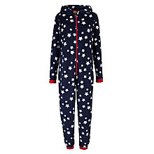 Buy John Lewis Star Print Onesie and Hot Water Bottle Cover, Blue/White Online at johnlewis.com