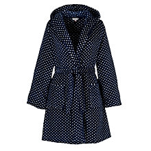 Buy John Lewis Spot Hooded Robe, Blue/White Online at johnlewis.com