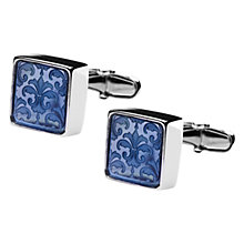 Buy Denison Boston Mindy Floral Cufflinks, Blue Online at johnlewis.com