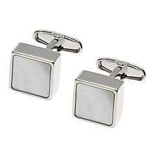 Buy Denison Boston Mindy Mother of Pearl Cufflinks, White Online at johnlewis.com
