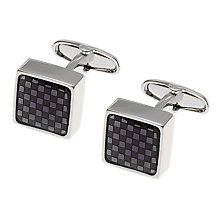 Buy Denison Boston Mindy Check Cufflinks, Graphite Online at johnlewis.com