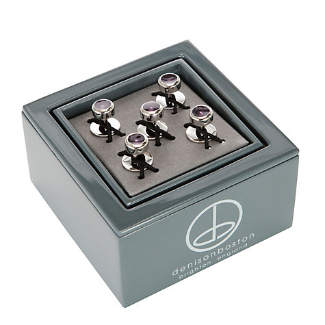 Buy Denison Boston Polo Dress Studs, Graphite Online at johnlewis.com