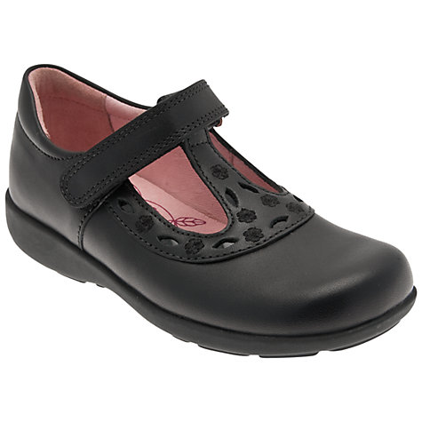 Buy Start-rite Beta T Bar Shoes, Black Online at johnlewis.com