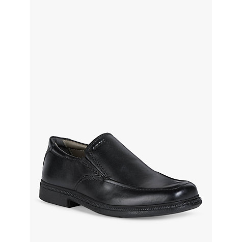 Buy Geox Federico Slip-on Shoes, Black Online at johnlewis.com
