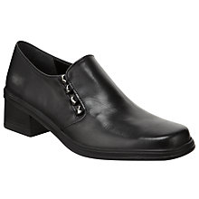 Buy Gabor Hertha Casual Leather Shoes, Black Online at johnlewis.com