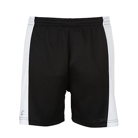 Buy Gateacre School Football Shorts, Black/White Online at johnlewis.com