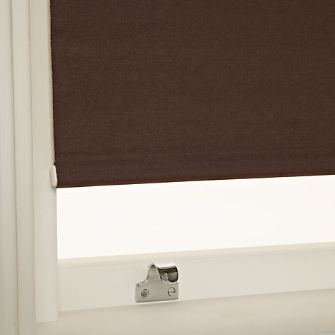 Buy John Lewis Hessian Blackout Roller Blinds, Mocha Online at johnlewis.com