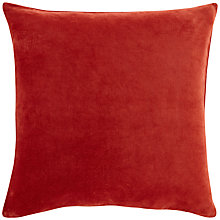 Buy John Lewis Plain Velvet Cushion Online at johnlewis.com