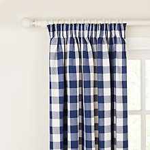 Buy John Lewis Large Check Pencil Pleat Curtains Online at johnlewis.com