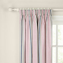 Buy John Lewis Coastal Stripe Pencil Pleat Curtains Online at johnlewis.com