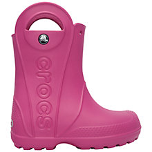 Buy Crocs Kids' Handle It Rain Wellington Boots, Fuchsia Online at johnlewis.com