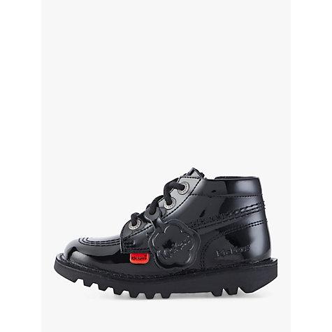Buy Kickers Hi Boots, Black Patent | John Lewis