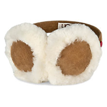 Buy UGG Children's Ear Muffs, One Size, Chestnut Online at johnlewis.com