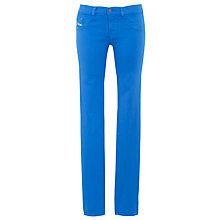 Buy Diesel Livier Stretch Denim Jeggings, Bright Blue Online at johnlewis.com