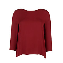 Buy Tara Jarmon Silk Blouse, Bordeaux Online at johnlewis.com