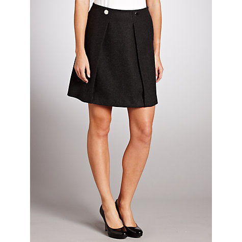 Buy Tara Jarmon A-Line Button Skirt, Slate Grey Online at johnlewis.com
