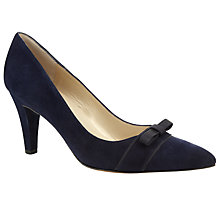 Buy Peter Kaiser Vermala Suede Mini Bow Court Shoes, Blue Online at johnlewis.com