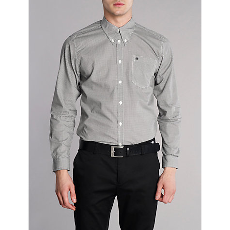 Buy Merc Found Button Dogtooth Button Down Shirt, Black/White Online at johnlewis.com