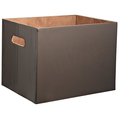 Buy John Lewis Brown Faux Leather Box Online at johnlewis.com